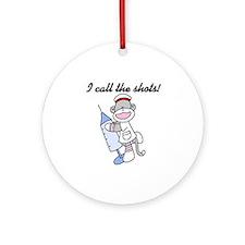 Nurse I Call the Shots Ornament (Round)