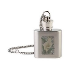 Silver Flower Flask Necklace