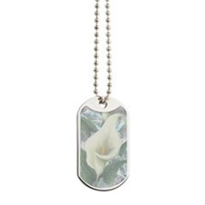 Silver Flower Dog Tags