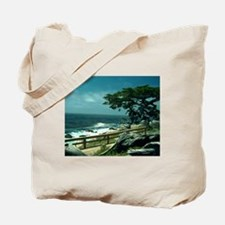 Lone Cypress Tree Tote Bag