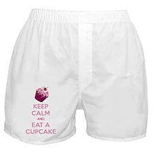 KEEP CALM EAT A CUPCAKE Boxer Shorts