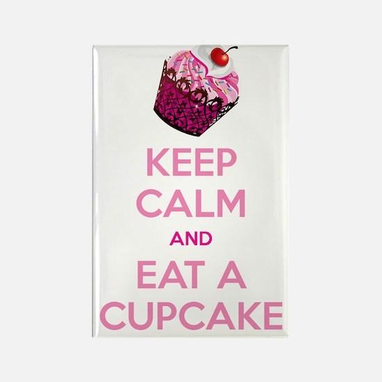 KEEP CALM EAT A CUPCAKE Rectangle Magnet
