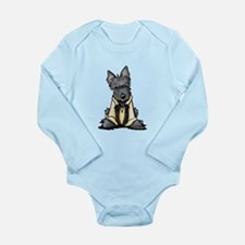 Handsome Solo Scottie Long Sleeve Infant Bodysuit