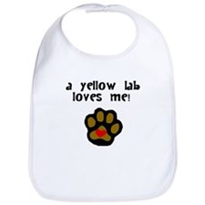 A Yellow Lab Loves Me Bib