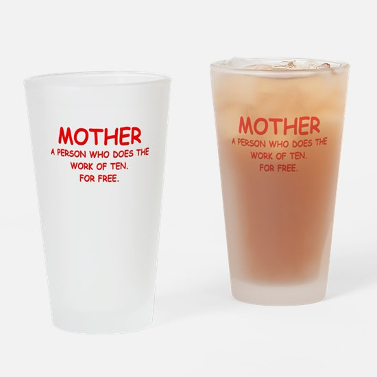 mother Drinking Glass
