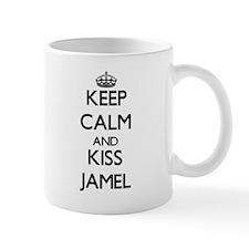 Keep Calm and Kiss Jamel Mugs