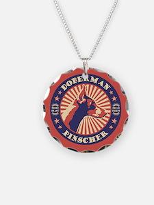 Doberman Vintage Emblem Necklace
