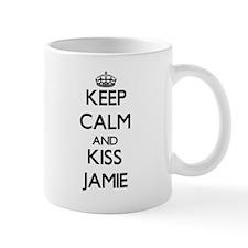 Keep Calm and Kiss Jamie Mugs
