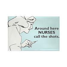 Cute Vintage nurse Rectangle Magnet (10 pack)