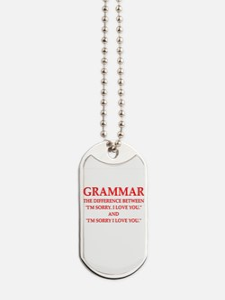 grammar Dog Tags
