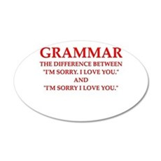 grammar Wall Decal