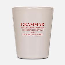 grammar Shot Glass