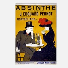 Vintage Absinthe Poster Postcards (package Of 8)