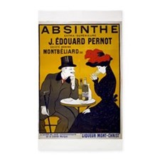 Vintage Absinthe Poster 3'x5' Area Rug