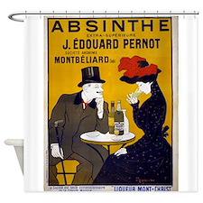 Vintage Absinthe Poster Shower Curtain