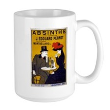 Vintage Absinthe Poster Mugs