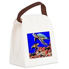 Cute Designs rainy Canvas Lunch Bag