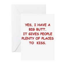 big butt Greeting Cards