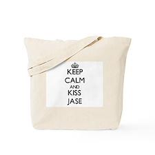 Keep Calm and Kiss Jase Tote Bag