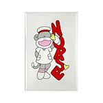Sock Monkey Nurse Rectangle Magnet (10 pack)