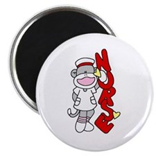 "Sock Monkey Nurse 2.25"" Magnet (10 pack)"