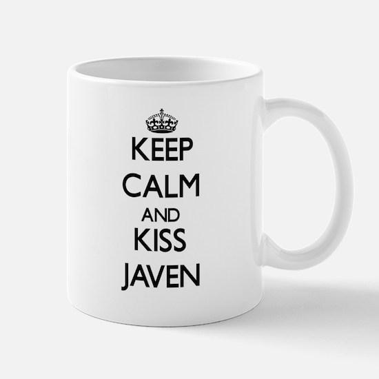 Keep Calm and Kiss Javen Mugs