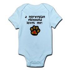 A Norwegian Elkhound Loves Me Body Suit