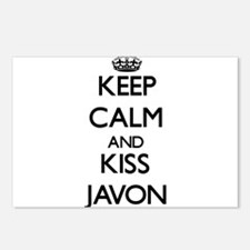 Keep Calm and Kiss Javon Postcards (Package of 8)