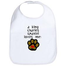 A King Charles Spaniel Loves Me Bib