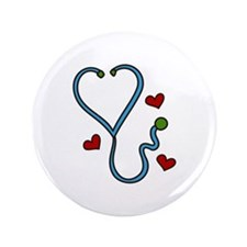 "Stethoscope 3.5"" Button"
