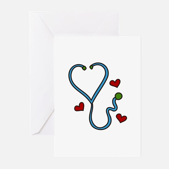Stethoscope Greeting Cards