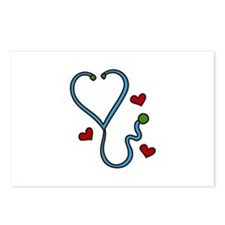 Stethoscope Postcards (Package of 8)