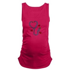 Stethoscope Maternity Tank Top