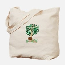 Squirrel In Tree Tote Bag