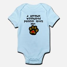 A German Wirehaired Pointer Loves Me Body Suit