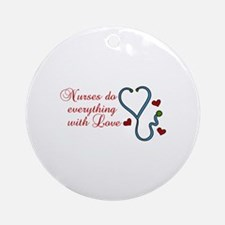With Love Ornament (Round)