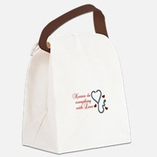 With Love Canvas Lunch Bag