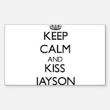 Keep Calm and Kiss Jayson Decal