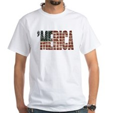 Vintage Distressed MERICA Flag T-Shirt