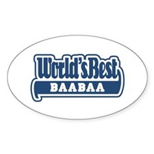 WB Dad [Persian] Oval Decal