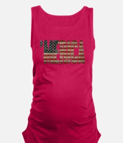Vintage Distressed MERICA Flag Maternity Tank Top