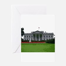 White House edit Greeting Cards