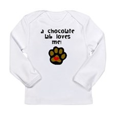 A Chocolate Lab Loves Me Long Sleeve T-Shirt