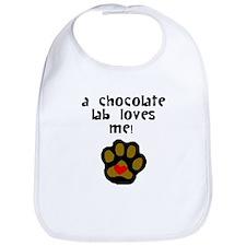 A Chocolate Lab Loves Me Bib