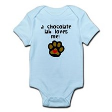 A Chocolate Lab Loves Me Body Suit