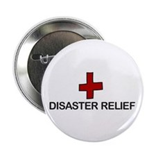 """Disaster Relief 2.25"""" Button (10 pack)"""