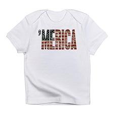 Vintage Distressed MERICA Flag Infant T-Shirt