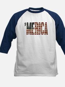 Vintage Distressed MERICA Flag Baseball Jersey