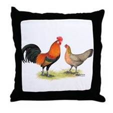 Red Junglefowl Throw Pillow