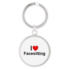 Facesitting Round Keychain